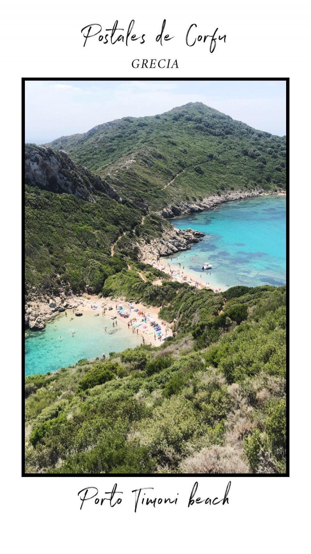 Porto timonee beach, corfu, grecia
