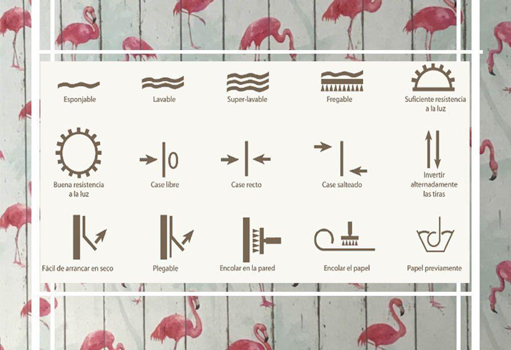 poner papel pintado símbolos