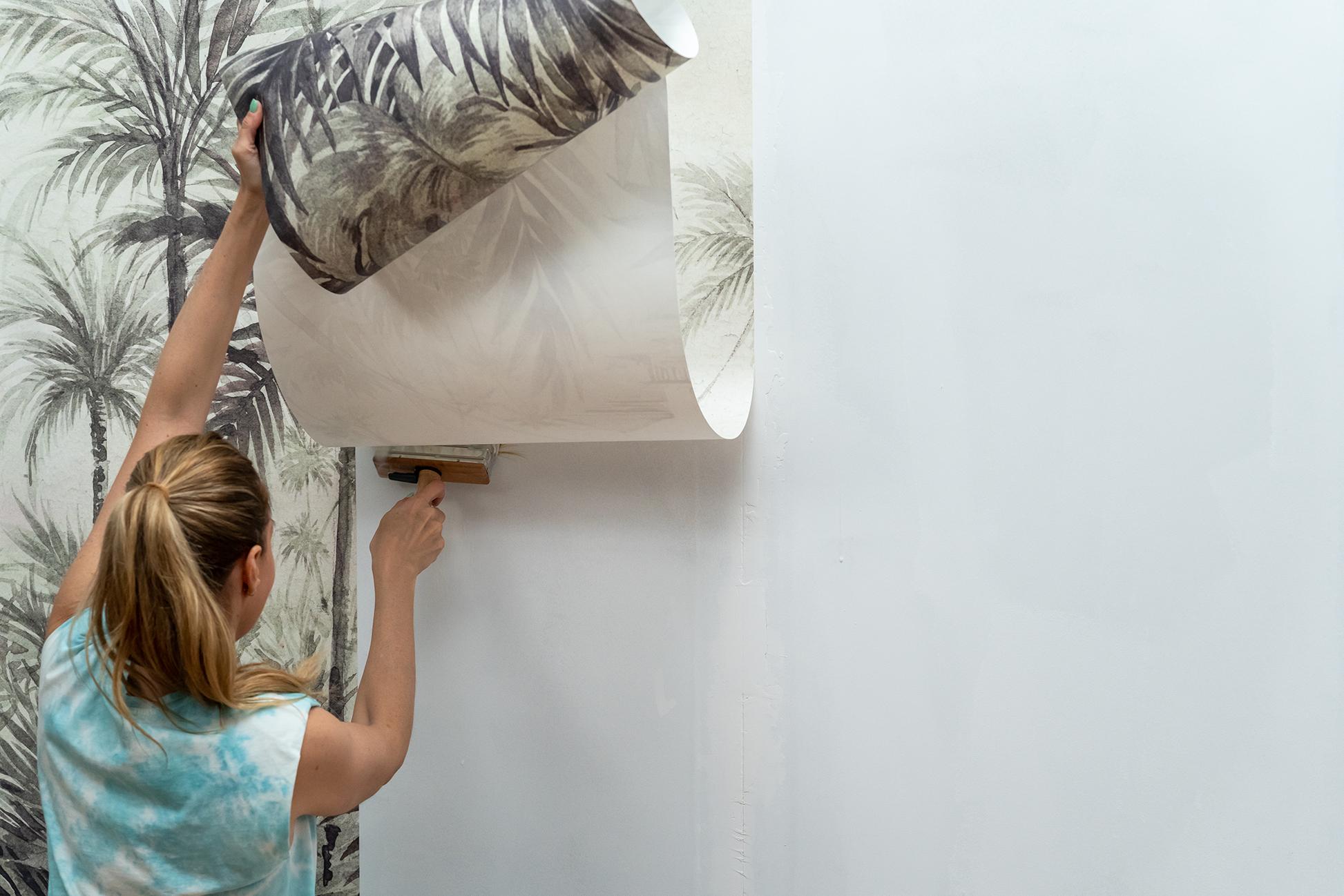aplicación de papel pintado